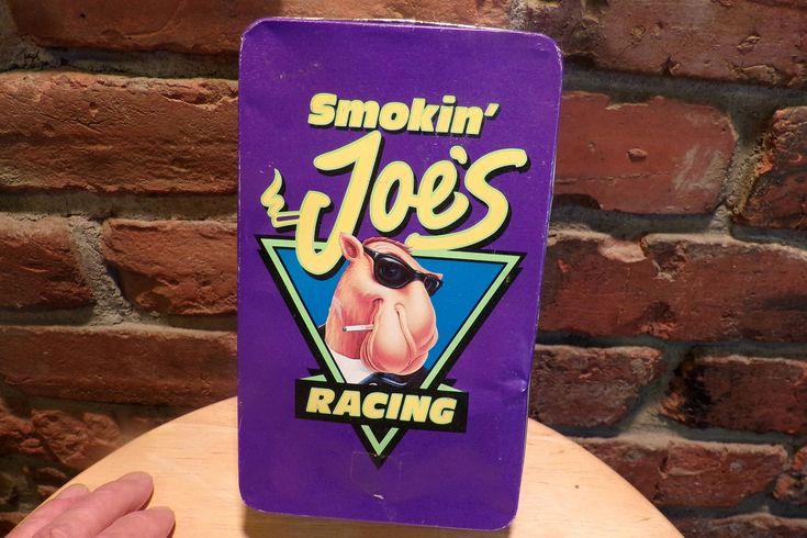 Smokin' Joe's Racing Tin, Camel tin, Camel smoke tin, Smokin Joe match box tin, vintage tin, 1994 Smoking Joe tin, Joe Camel tin by Morethebuckles on Etsy