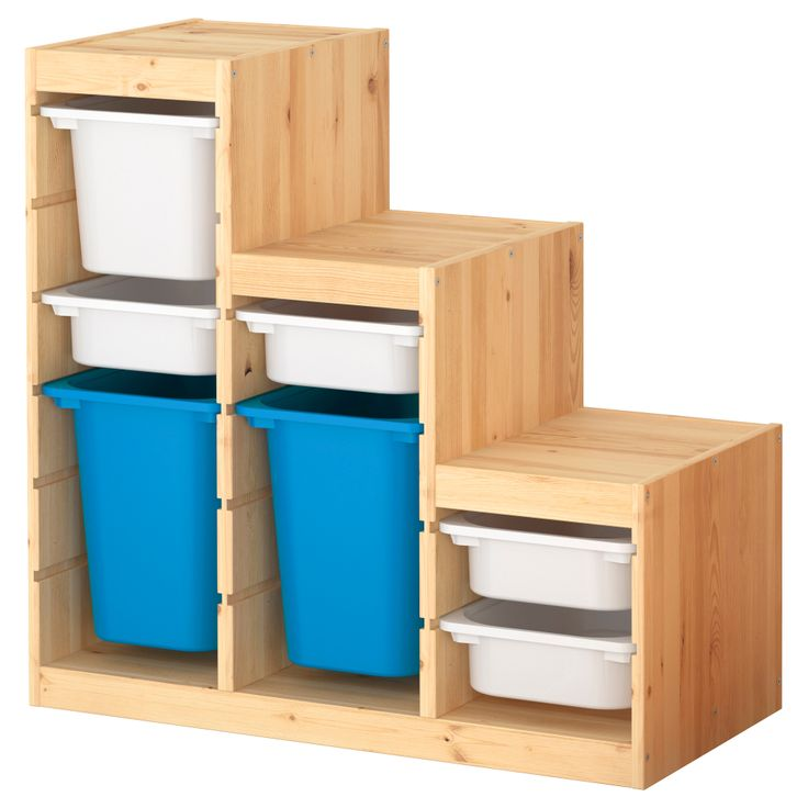 I want this for TJ's room for his toys...but I'l have to stain it to match his furniture    TROFAST Storage combination - IKEA