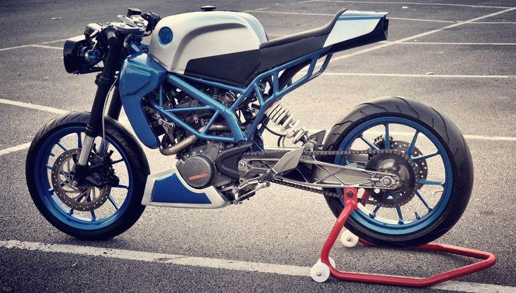 Sonic200 ~ KTM Duke200 Cafe Racer by Inline3 custom Motorcycles | 350CC.com
