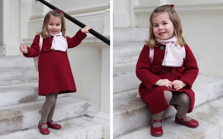 Princess Charlotte Looks so Grown up in Her Adorable First Day of School Photos | She's definitely taking after Kate Middleton in the style department.