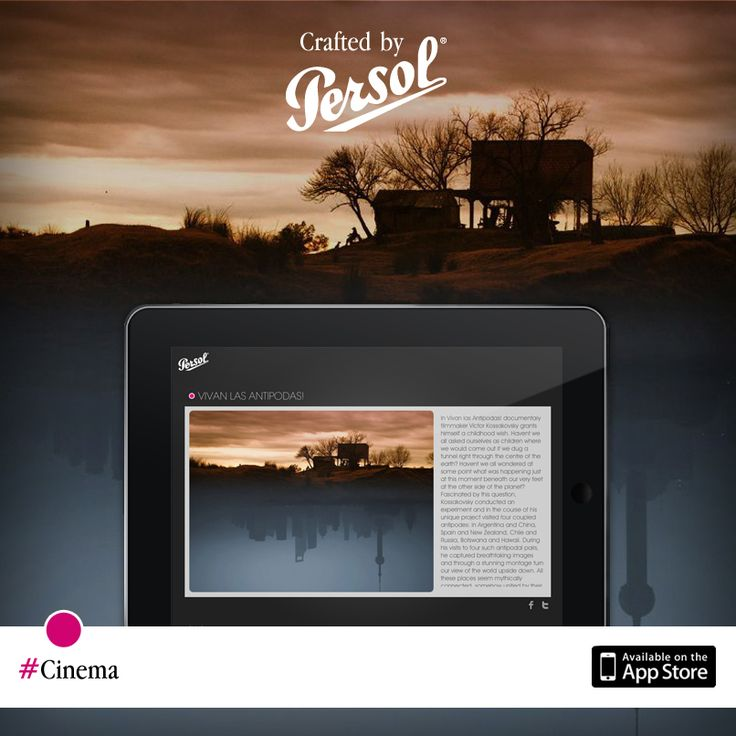 Discover craftsmanship in cinema on our new iPad app, CraftedxPersol. Free download @ http://pers.sl/Q4wMuS