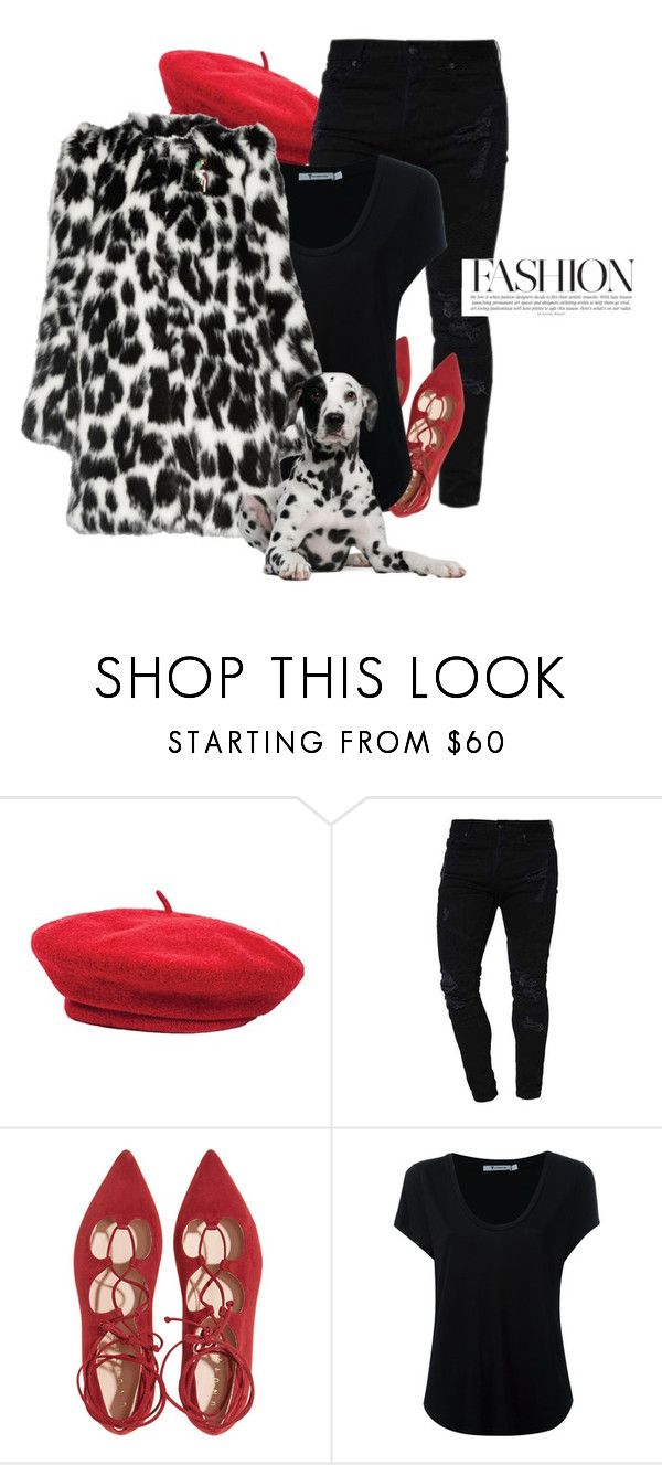 """""""B&W 100 dalmatians"""" by naturallydee ❤ liked on Polyvore featuring Brixton, Alexander Wang and Marc Jacobs"""
