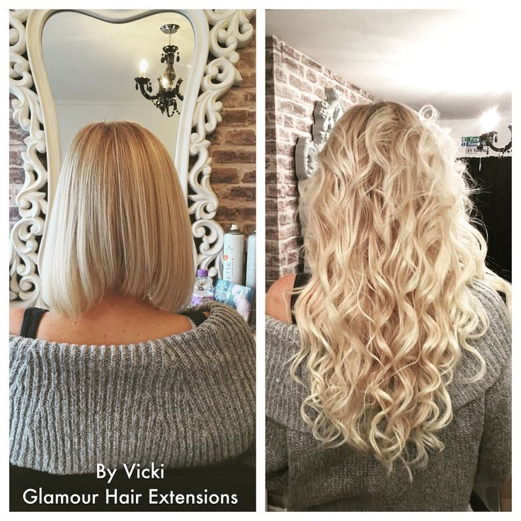"#hairextensions 18""blonde before and after microbead remy Indian hair Glamour Hair Extension Centre Cannock"