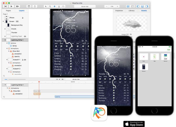 Kite / Like Sketch meets After Effects meets Keynote prototype app