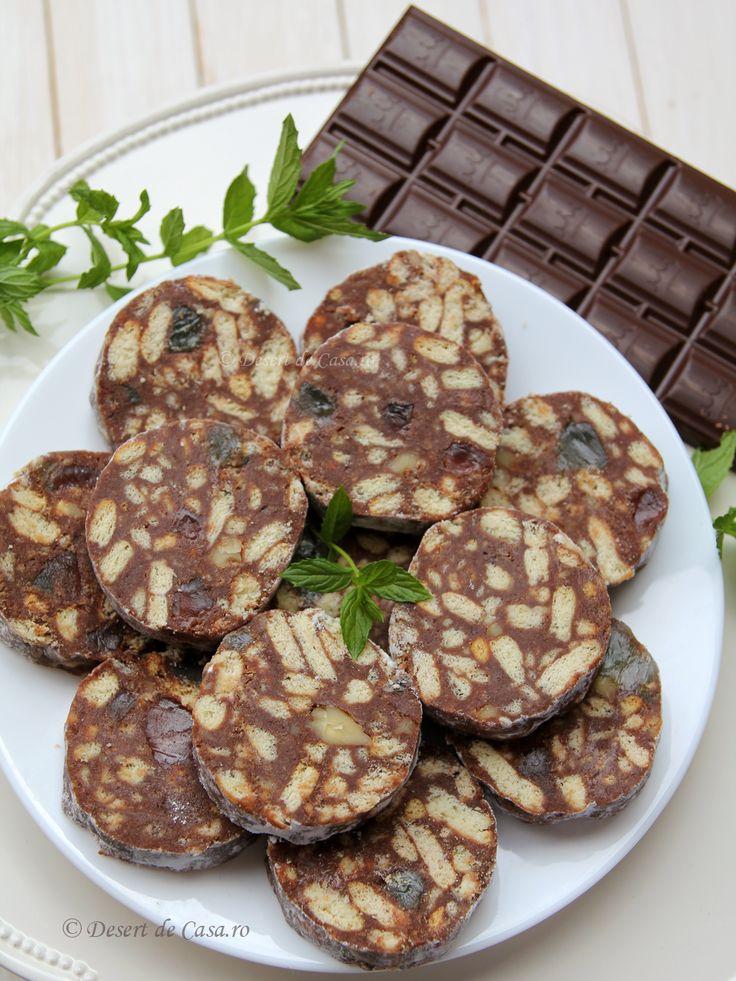 Salam de biscuiti cu ciocolata - Desert De Casa - Mara Popa