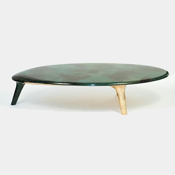 A Noste Low Table By Remi Capdepuy For Galerie Sors Pigmented Sawdust Resin And Bronze Leaf Low Table Furniture Furniture Decor Low Tables