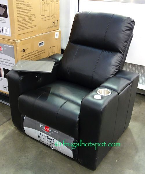 Pulaski Furniture Leather Home Theater Power Recliner Costco FrugalHotspot