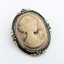 Vintage sieraden cameo broche mode koningin hoofd broche pins voor vrouwen bruiloft kostuum accesoires 5x014(China (Mainland))