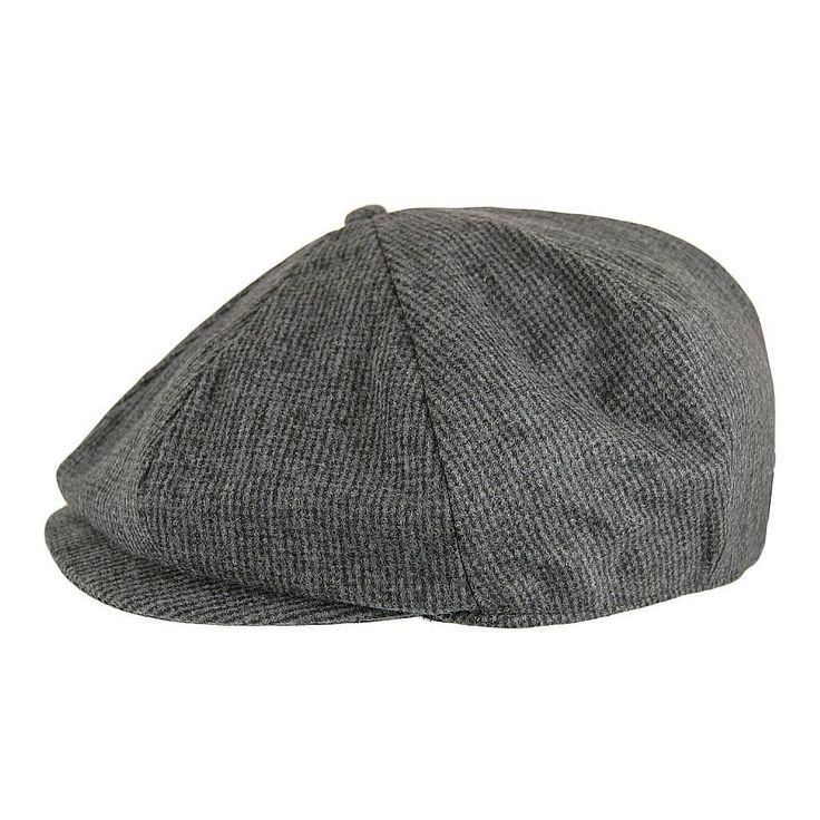 Gubbkeps / Flat cap - Jaxon Union Newsboy Cap (mörkgrå)