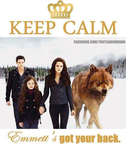 """I hate these """"keep calm"""" things, but i love this part in the book/movie. Emmett FTW."""