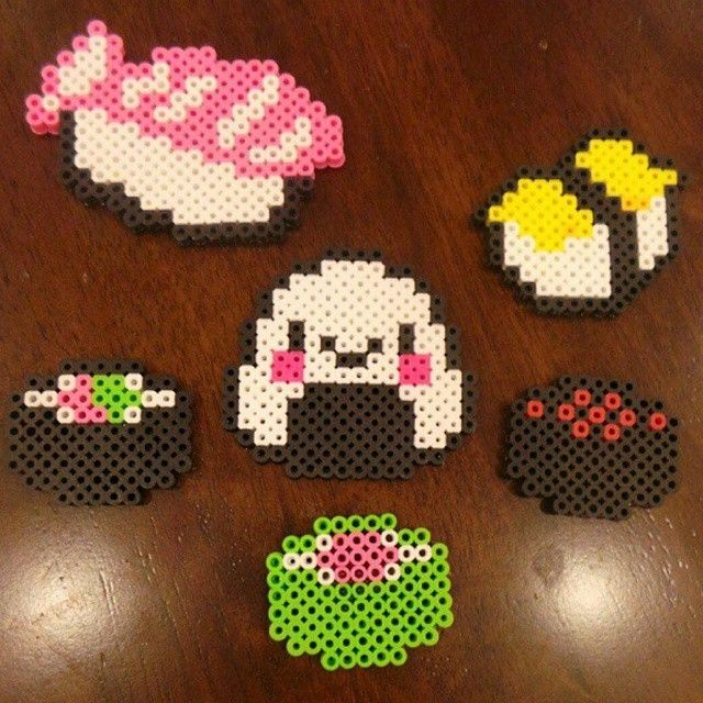 Sushi Set Hama Beads By Juju Crafts アイロンビーズ