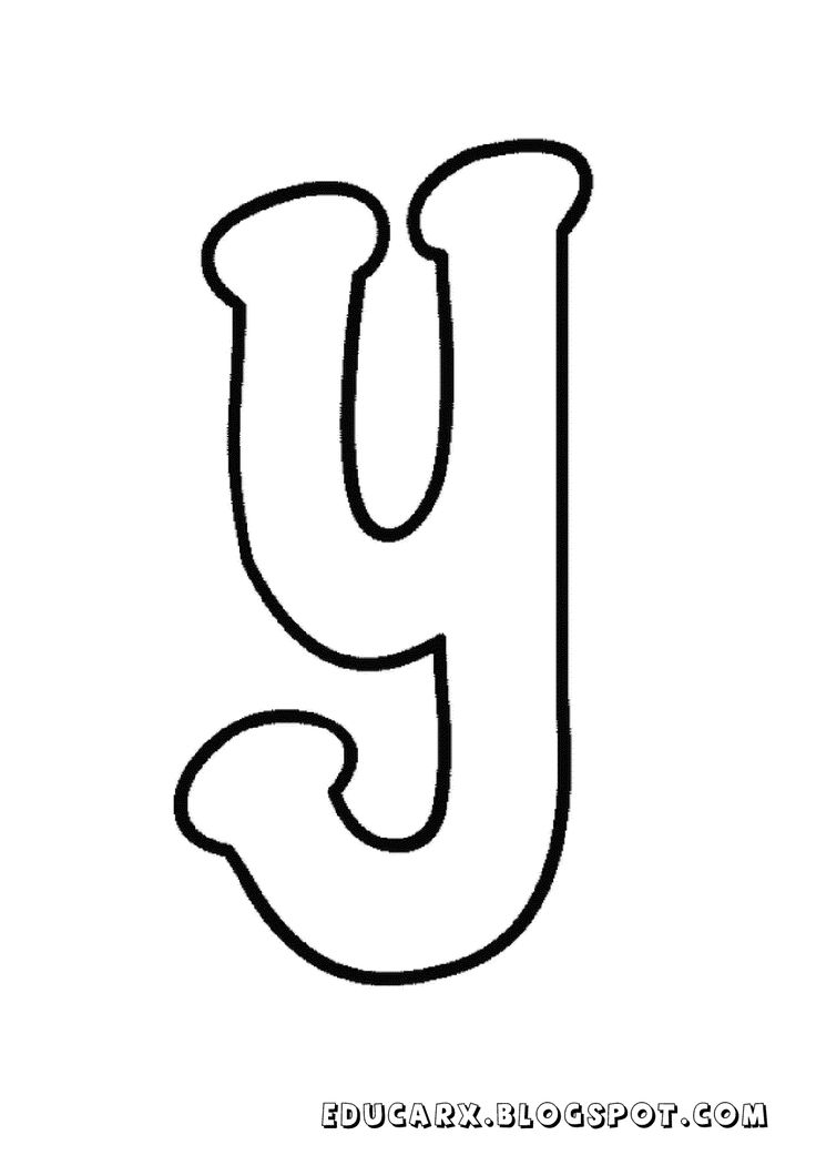 Molde da letra minuscula y