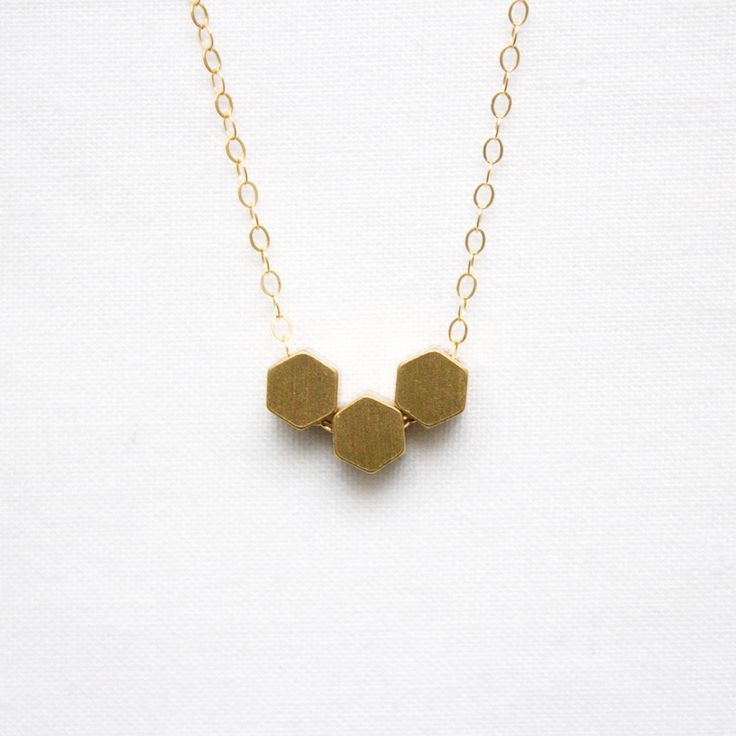 Hexagon Necklace | Oh My Clumsy Heart | Minimal Handmade Jewellery