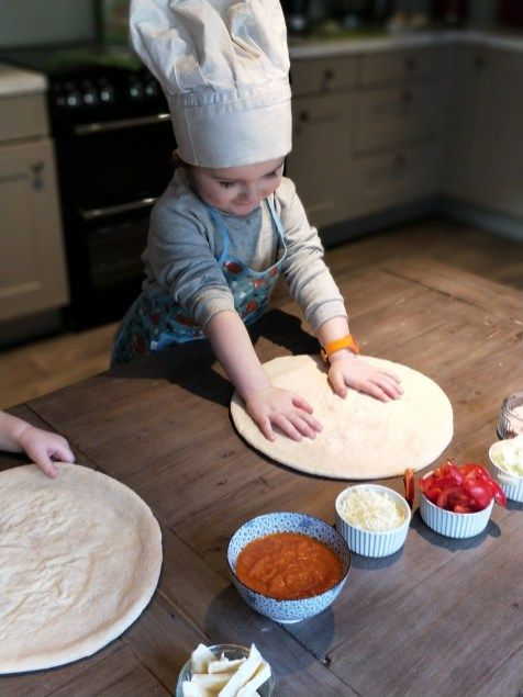 Cooking With Your Toddler: Make Your Own Pizzas #lifewithtinyhumans #cookingwithyourtoddler