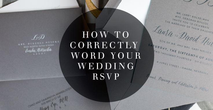 Rsvp Wedding Invitation Wording: 49 Best Nuptial Clients Images On Pinterest