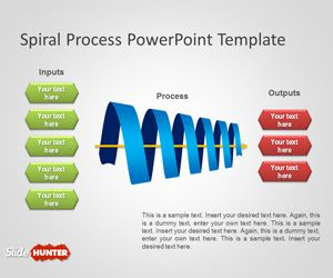 Free Spiral Process PowerPoint Template is an awesome spiral diagram created with Microsoft PowerPoint entirely using PowerPoint graphics and shapes #powerpoint #diagram #spiral #model