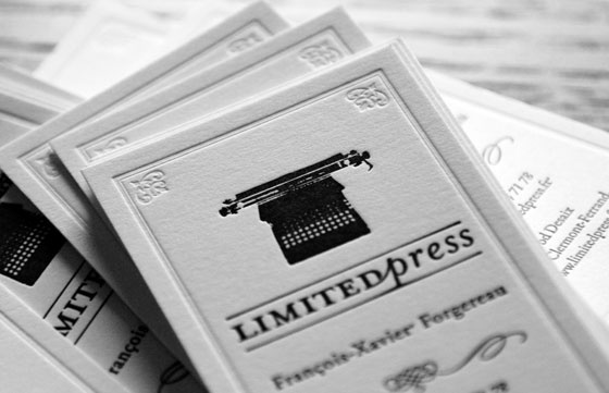 Letterpress buisness cards by mediafix , via Behance