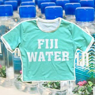 Fiji Water Crop Top via KEEKYDUCKS. Click on the image to see more!