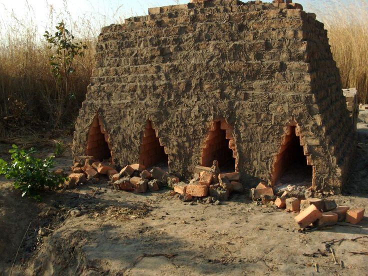 Brick factory using soil of antshill