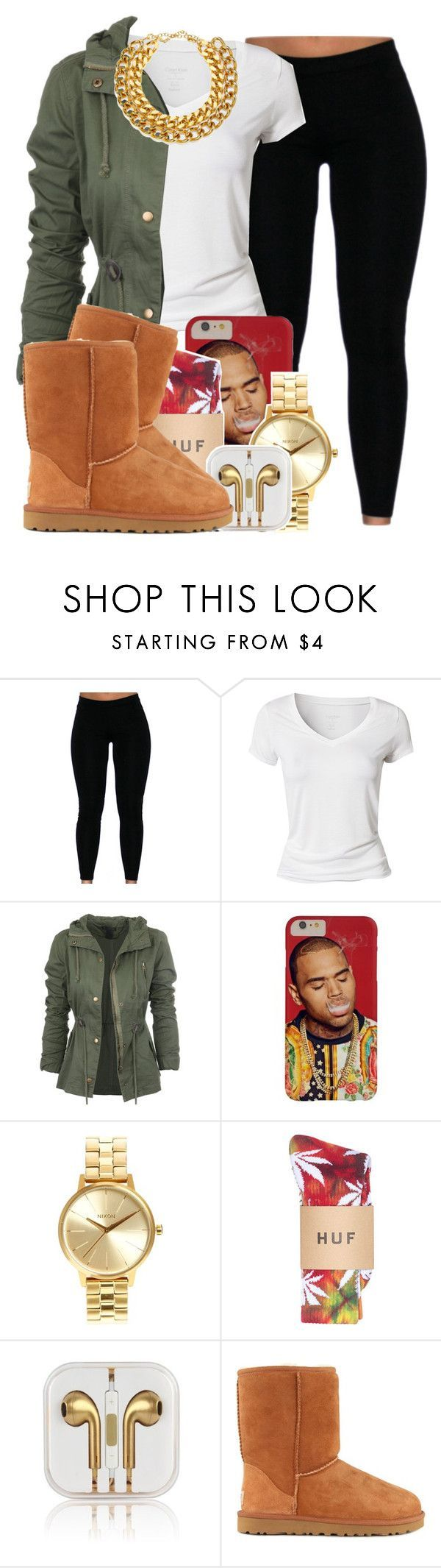 """769"" by tuhlayjuh ❤ liked on Polyvore featuring Calvin Klein, Nixon, UGG Australia and A.V. Max"