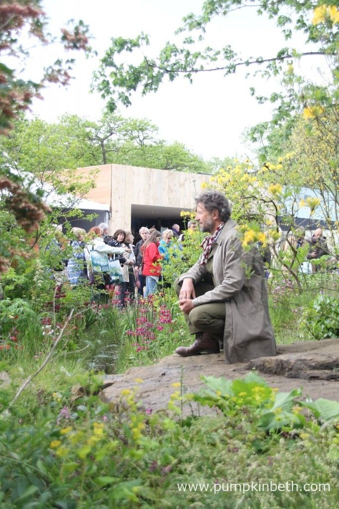 Dan Pearson in his Gold Medal winning, Laurent-Perrier Chatsworth Garden, at the 2015 RHS Chelsea Flower Show.  This garden was awarded a Gold Medal and the much coveted Best In Show Award by the RHS Judges at the 2015 RHS Chelsea Flower Show.