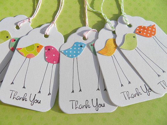 Baby Chick Gift Tags  Baby Shower Tags  Thank You by suziescards, $6.00