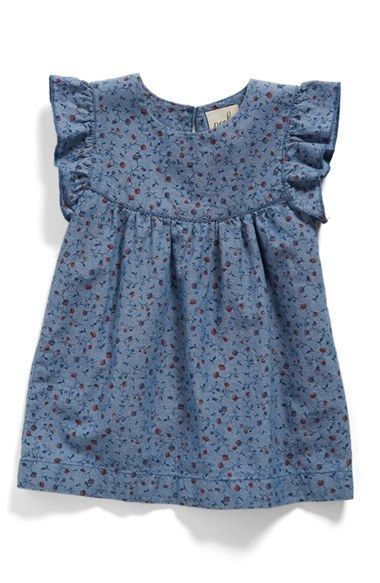 Peek 'O'Keefe' Print Cotton Dress (Baby Girls) available at #Nordstrom