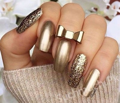 The 25 best new years nail art ideas on pinterest new years latest and unique metallic nail art designs nail art designs trendy nail art designs prinsesfo Gallery