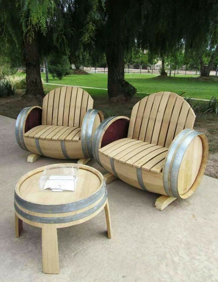 Repurposed wine barrels!!