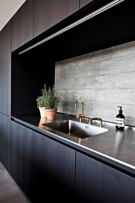 sophisticated glamour in a raw hamburg bunker | @meccinteriors | design bites | #kitchen