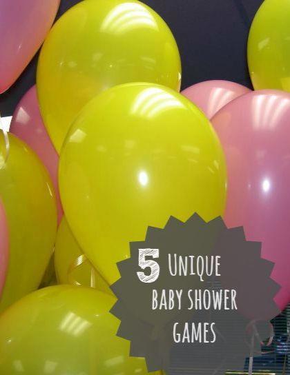 5 Unique Baby Shower Games