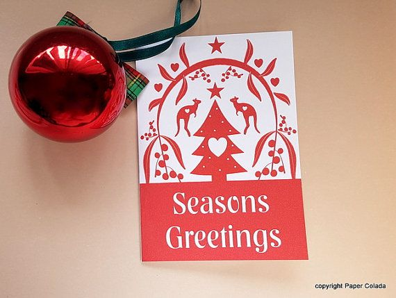 Australian Scandinavian Christmas Cards with by PaperColada