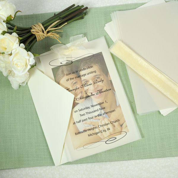 caublehouse vellum and photo wedding invite kit - Cheap Wedding Invitations Sets