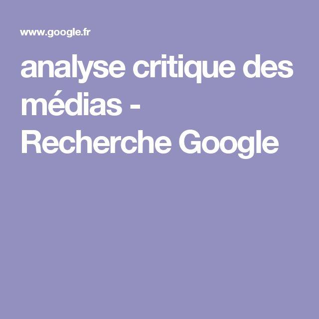 analyse critique des médias - Recherche Google