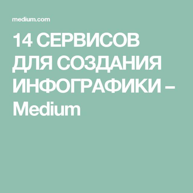 14 СЕРВИСОВ ДЛЯ СОЗДАНИЯ ИНФОГРАФИКИ – Medium