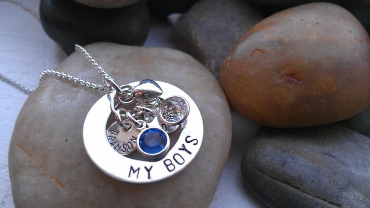 jewelry for moms of boys   ... sterling silver MY BOYS trendy mommy jewelry Mothers day gift ideas