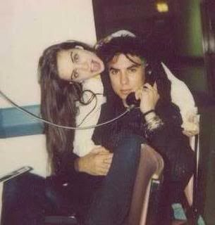 Demri Parrott (Layne Staleys girlfriend) with Dave Navarro of Janes Addiction. I believe this was taken while they were in rehab together.