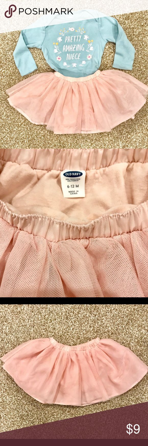 Old Navy Girls 6 12 Months Tutu Skirt Pale Pink