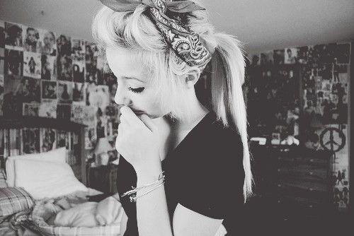 : Head Wraps, Summer Hair, Long Hair, Go Blondes, Bandanas Headbands, Hair Style, Edgy Hair, Bandanas Hair, Hair Tricks