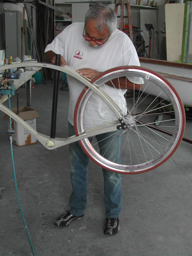 This is the first bike created. Silvio the designer, is very carefully on all details