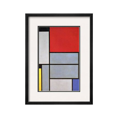 "Tableau I (SOHO Black) Mondrian Geometric Prints from Piet Mondrian Piet Mondrian's (1872- 1944) deceptively simple style utilized minimal black lines and balanced blocks of color. His style was dubbed ""Neoplasticism,"" as it was based on the pure colors and straight lines underlying the visible world. ToMo is proud to offer some of this great artist's famous works with museum quality prints."