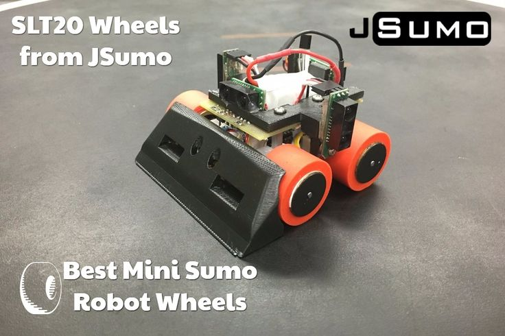Best Mini Sumo Robot Wheels / SLT20 Wheels from JSumo