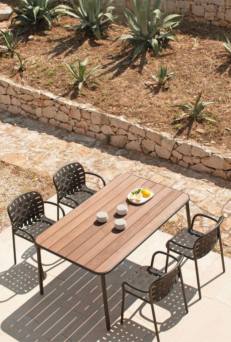 Salle à manger de jardin des coins repas d'extérieur