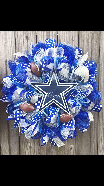 Dallas Cowboys Football Wreath by Jayne's Wreath Designs on fb and instagram