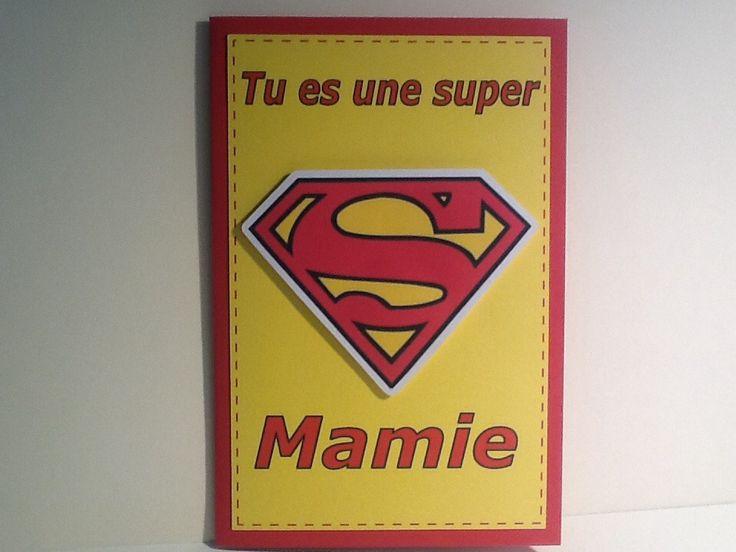 carte fête des grands mères super mamie : Cartes par la-petite-seve