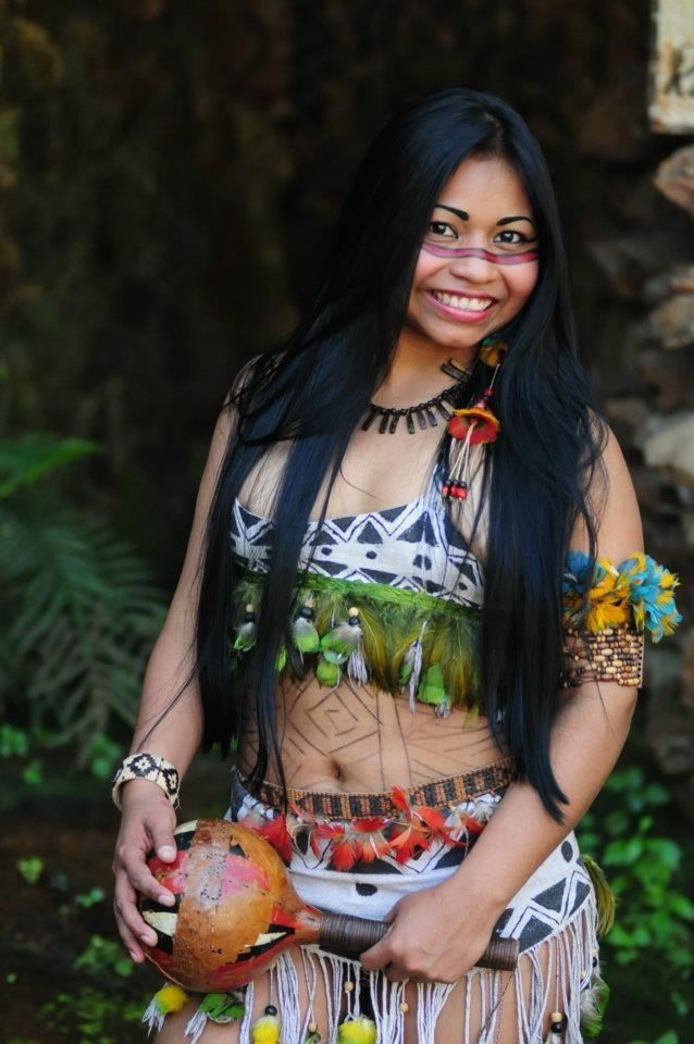 Her name is We'e'ena Miguel, she's an Amazonian Brazilian indian, from Tikuna…