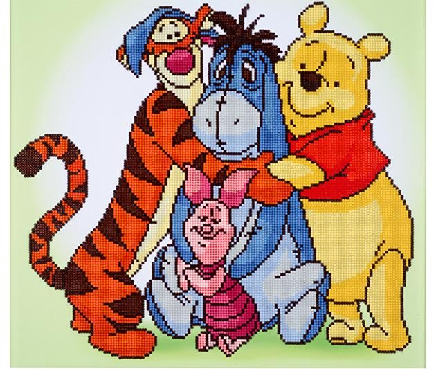 Winnie the Pooh Tigger Eeyore Friends Are For Leaning On Cross Stitch Kit *NEW*