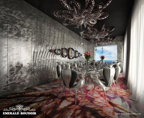 dining room, Emerald Boudoir - Luxury Interiors