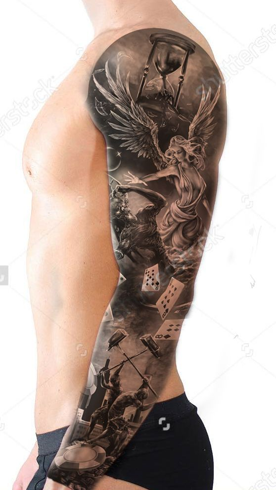 FULL SLEEVE TATTOO DESIGN IDEAS FOR MEN WITH MOCK UP ON ME–Stwp # 2 bottom fron…
