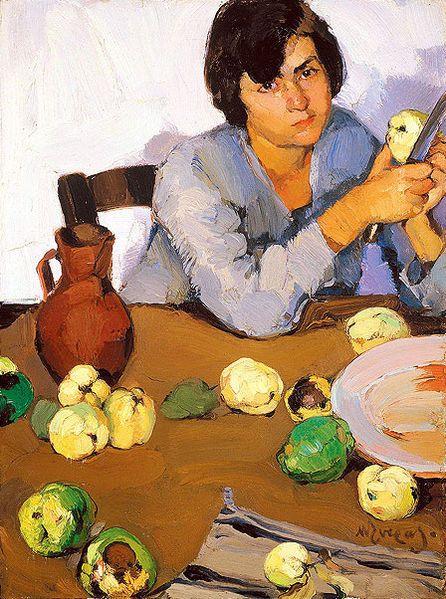 Nikolaos Lytras; Peeling quinces